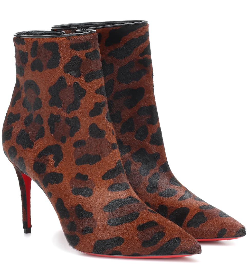 So Katy 85 Leopard Ankle Boots by Christian Louboutin