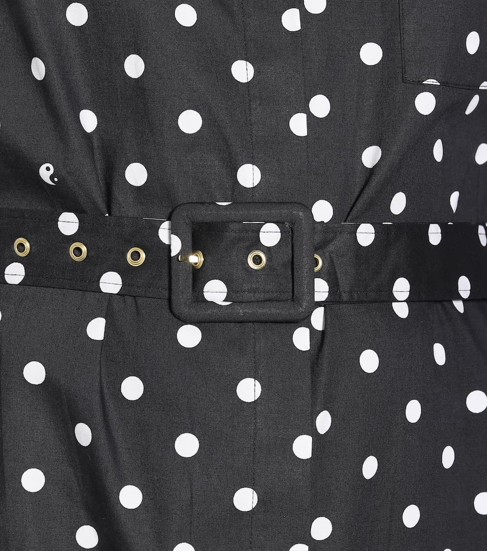 Staud - Daisy polka-dot cotton maxi dress