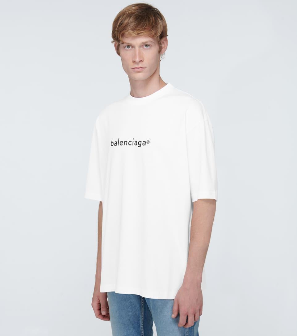 Balenciaga - Copyright Logo Medium-fit T-shirt Big Discount