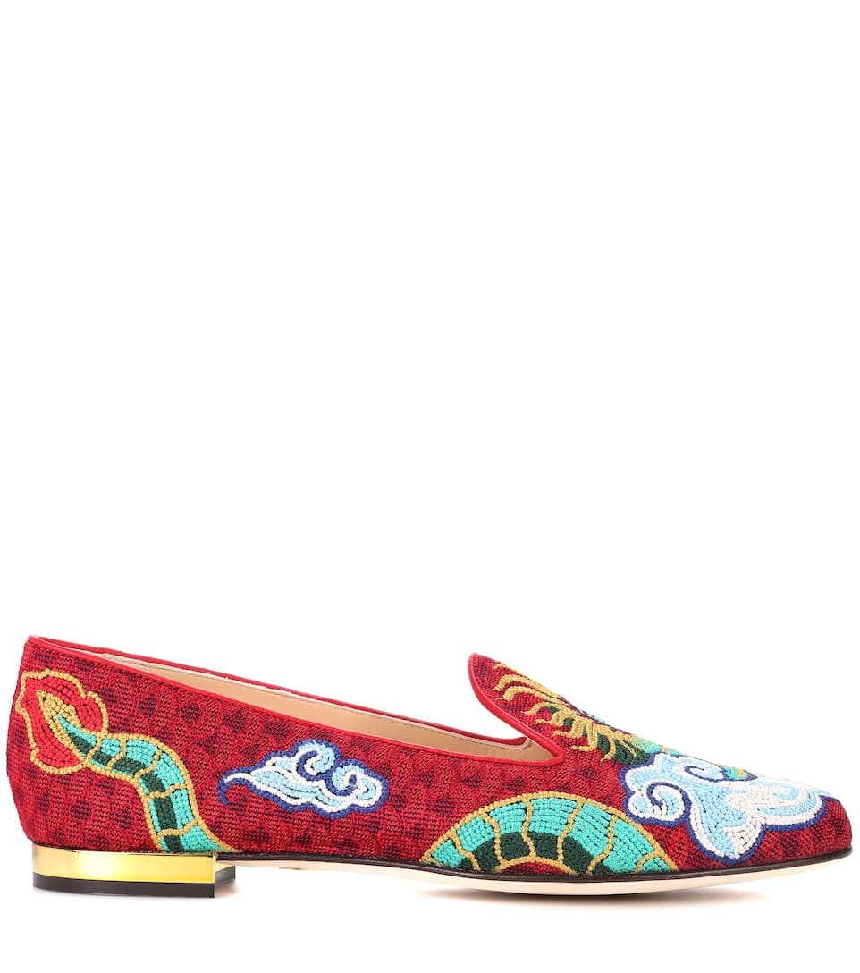 Charlotte Olympia Loafers Dragon aus Jacquard