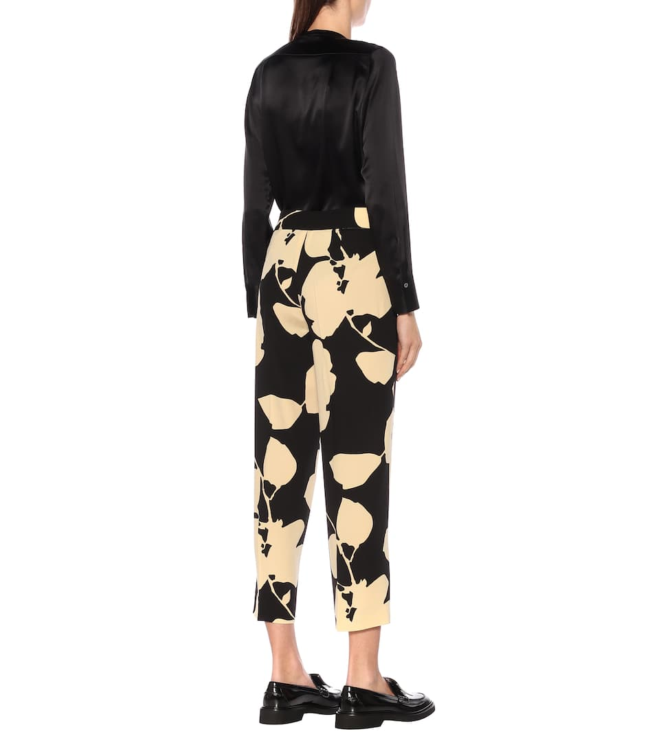S Max Mara - Elodia floral cady straight pants