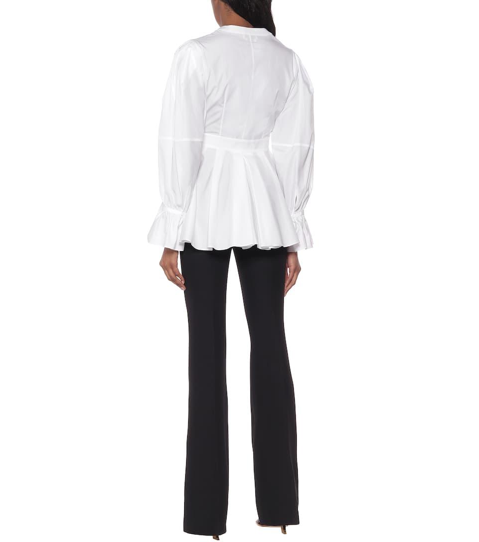 Alexander McQueen - Cotton-poplin blouse