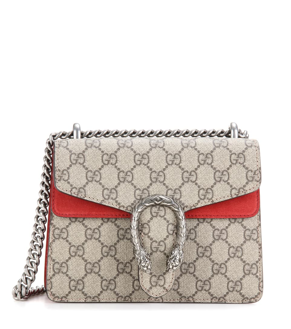 e088cd4a870 Dionysus Gg Supreme Mini Coated Canvas And Suede Shoulder Bag - Gucci |  mytheresa.com