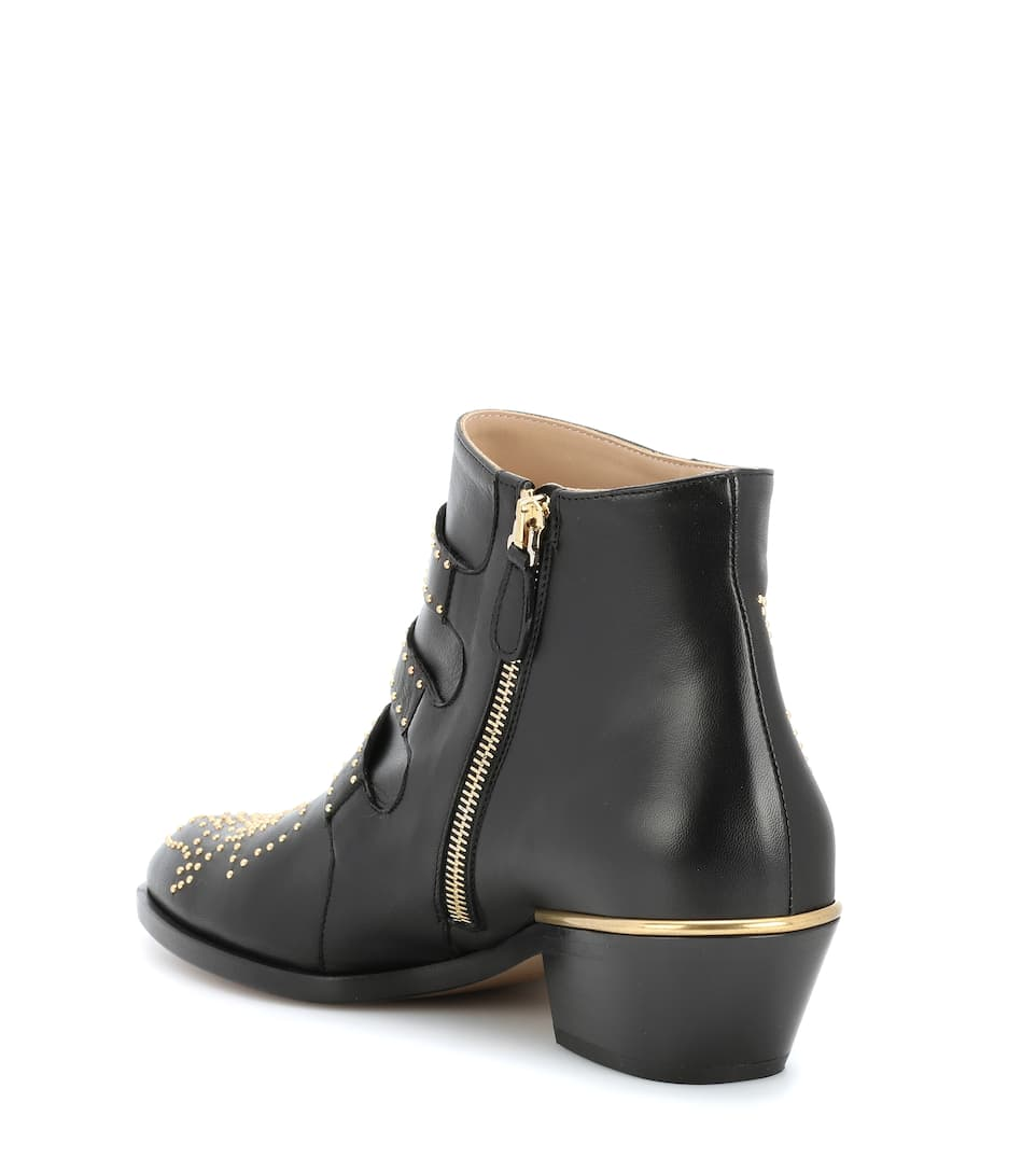 9847978fa327 Ankle Boots Susanna Aus Leder - Chloé