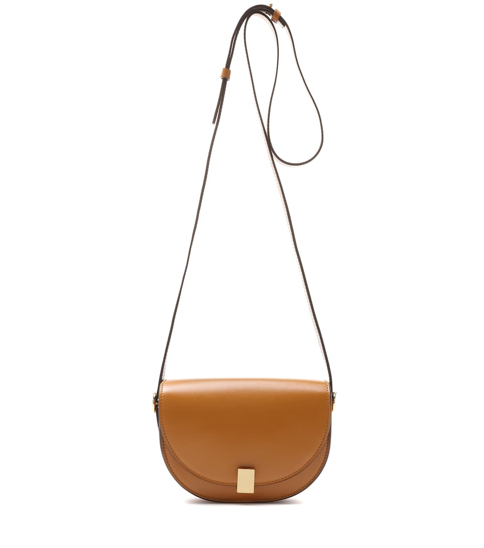 Nano Half Moon Box Shoulder Bag, Brown