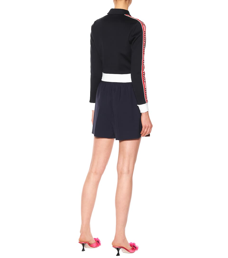 Miu Miu Cropped Jacket Cotton Blend From A