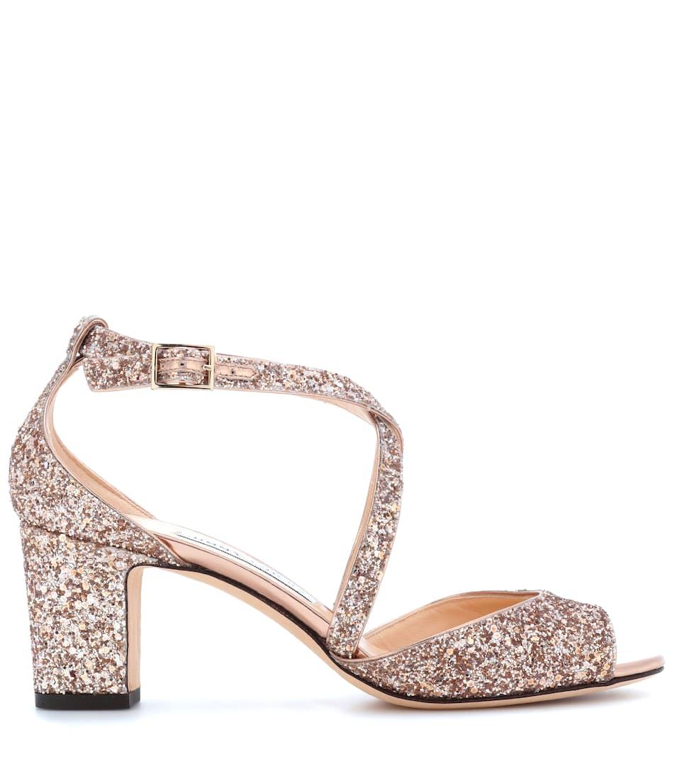 Jimmy Choo Sandalen Carrie 65 mit Glitter