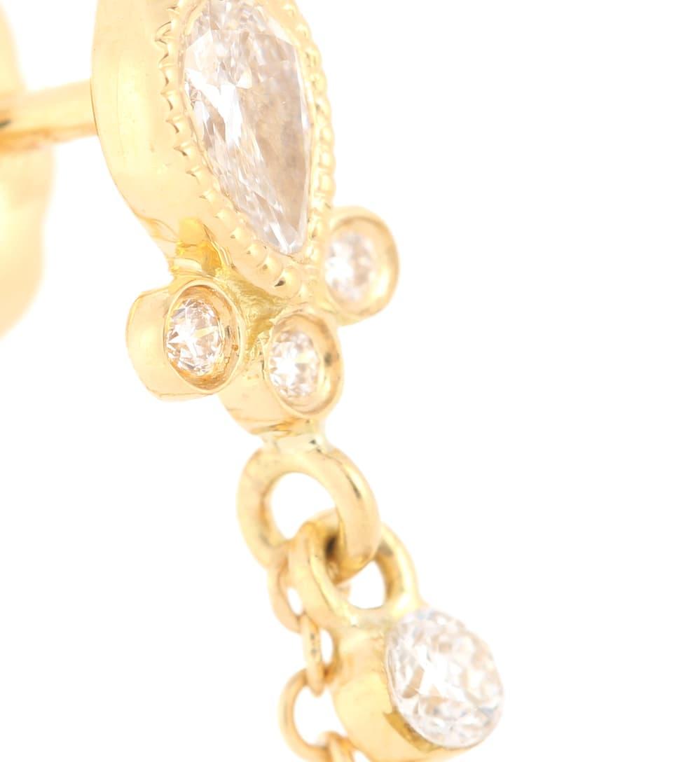 Diamants Tash D'oreille Ct Or 18 Unique En Et Boucle Maria wkOP0n