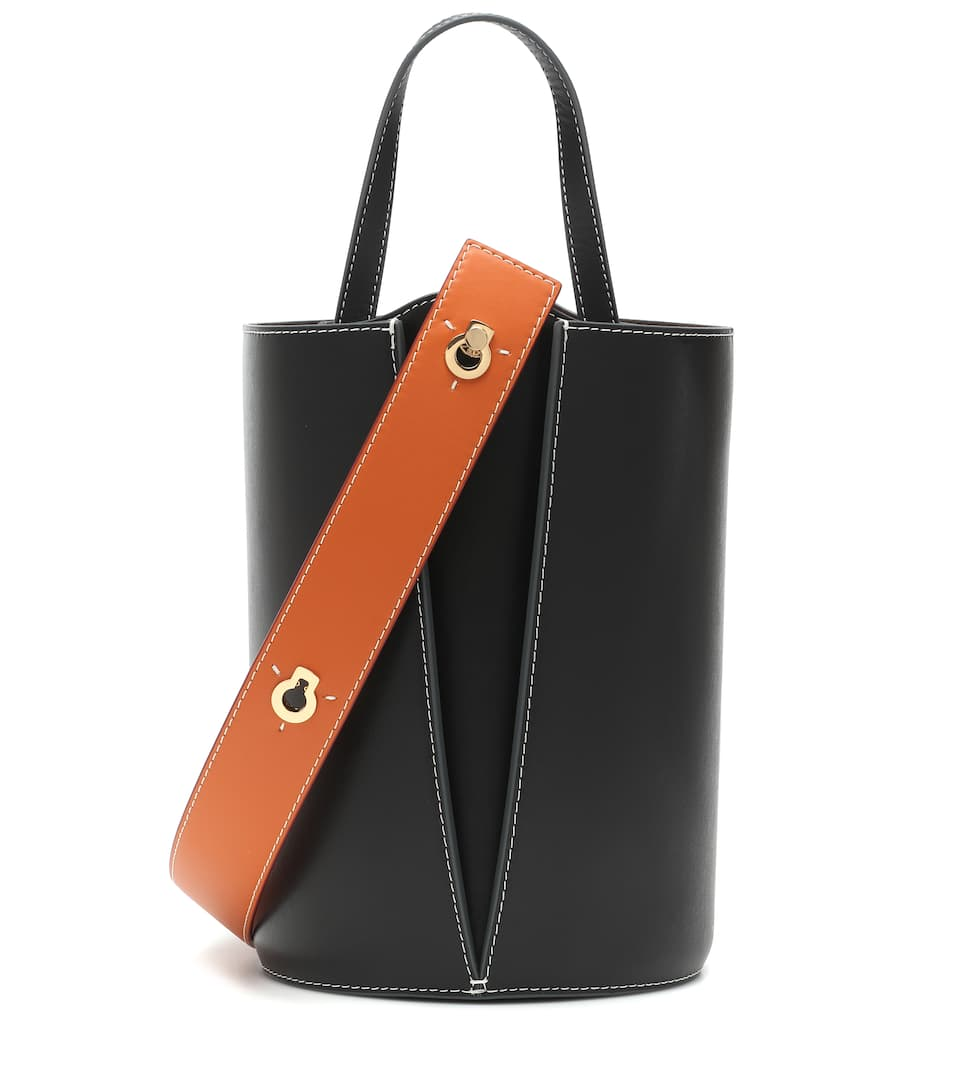 a6d07563b1526 Mini Lorna Leather Bucket Bag - Danse Lente