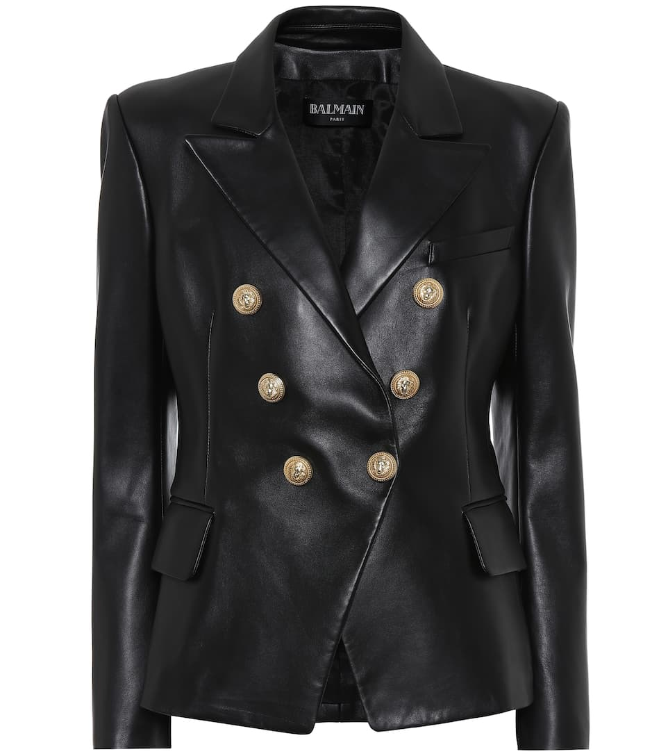 0eeccf5ce80 Leather Blazer - Balmain | mytheresa.com