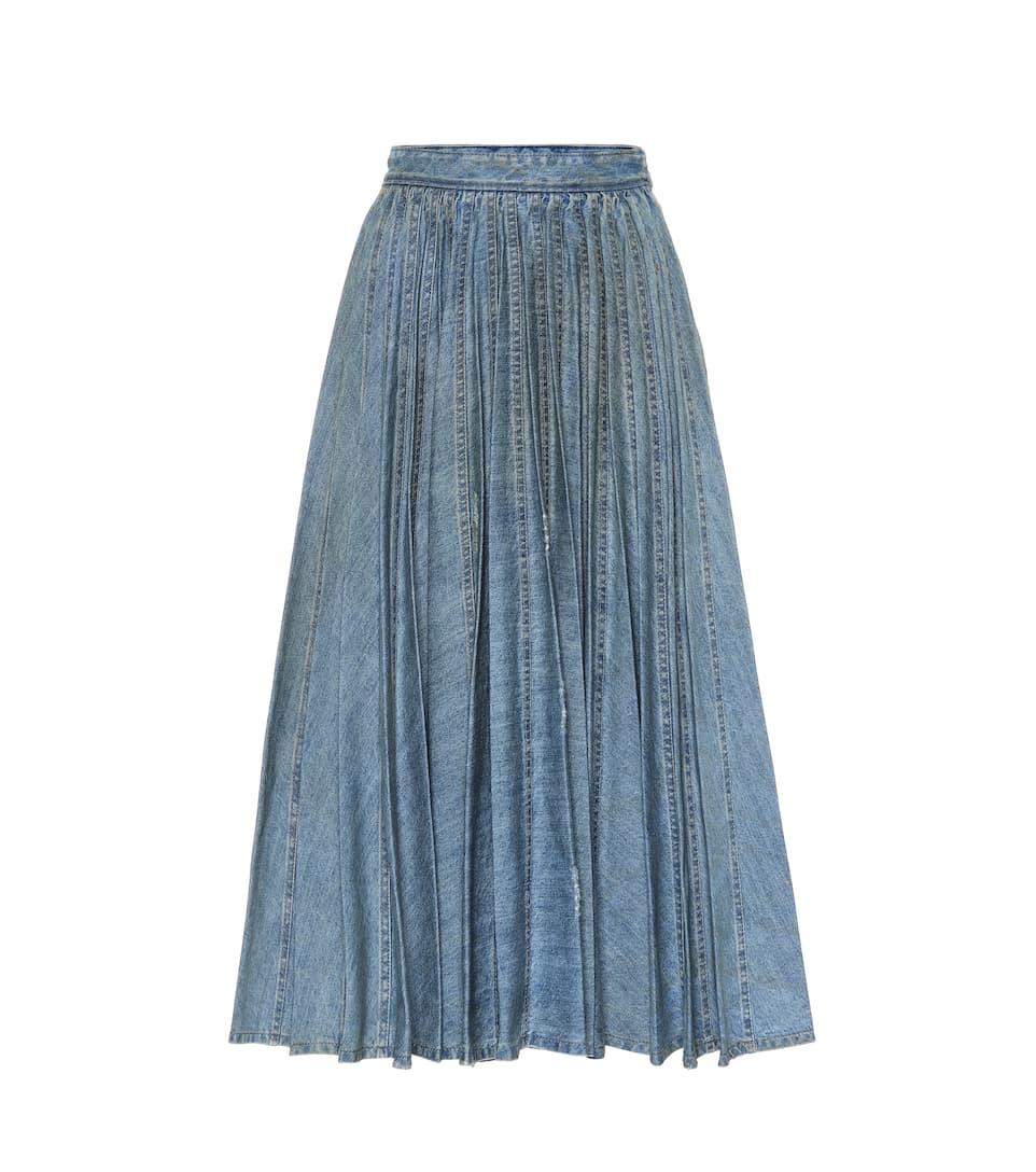 141cbee02 Falda De Jeans Plisada