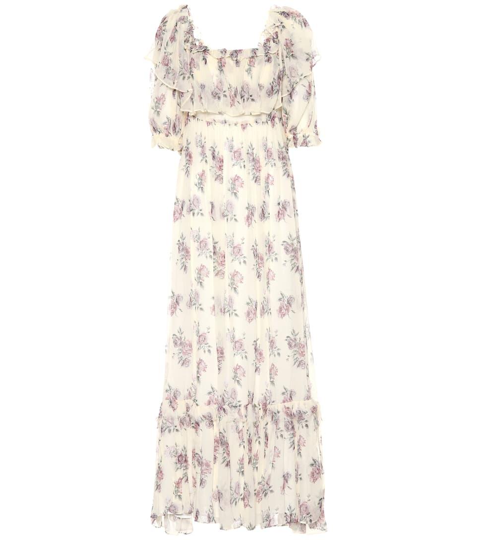 b107c5e557f0 Tara Silk Chiffon Maxi Dress | LoveShackFancy - Mytheresa