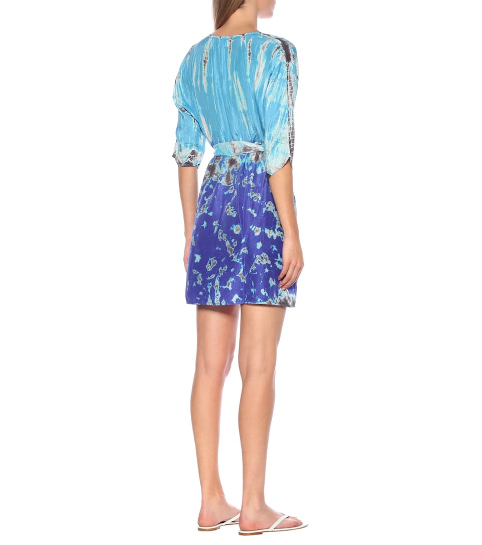 Anna Kosturova - Exclusive to Mytheresa – Tie-dye silk minidress