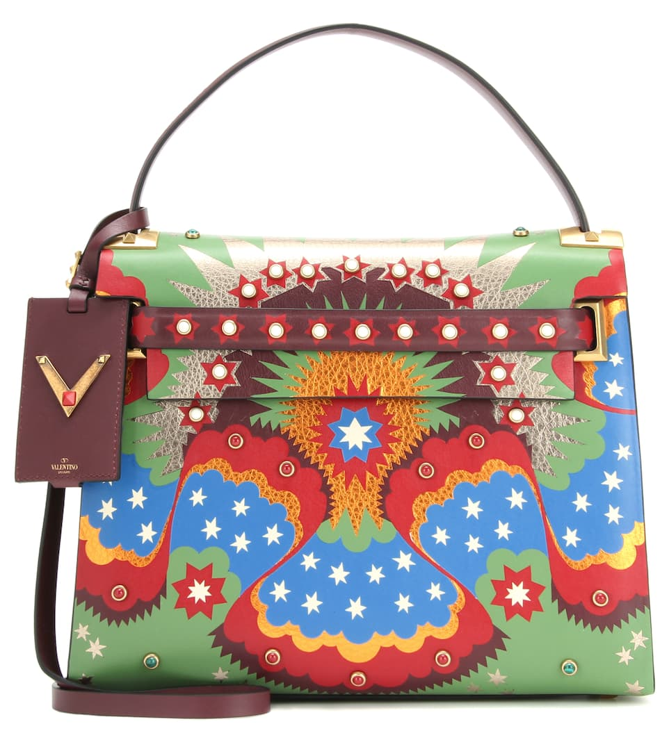 Valentino My Rockstud printed leather cross-body bag