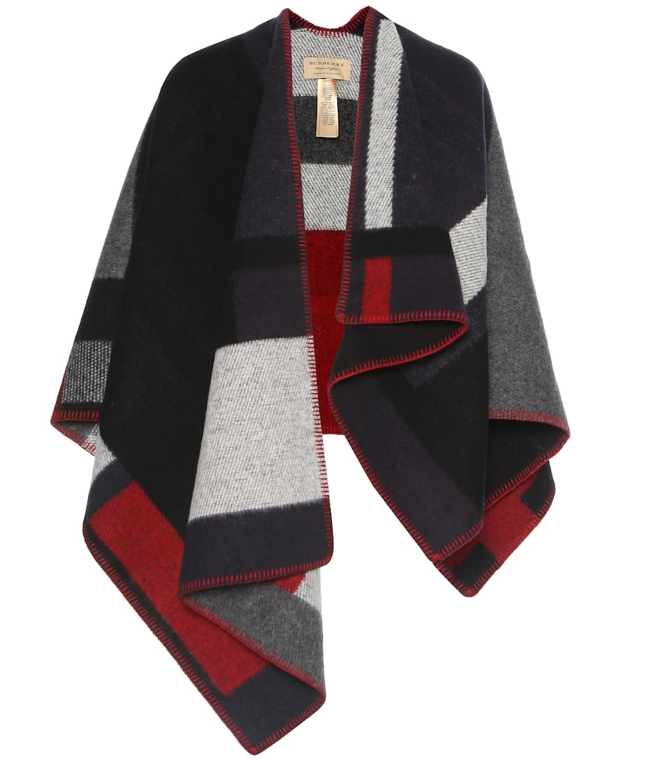 Burberry Wool and cashmere-blend poncho