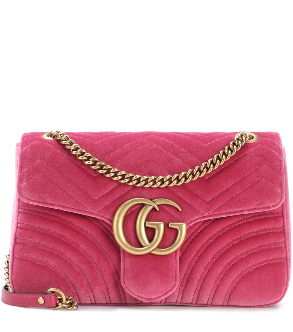 GG Marmont Medium velvet shoulder bag Gucci zV4xK