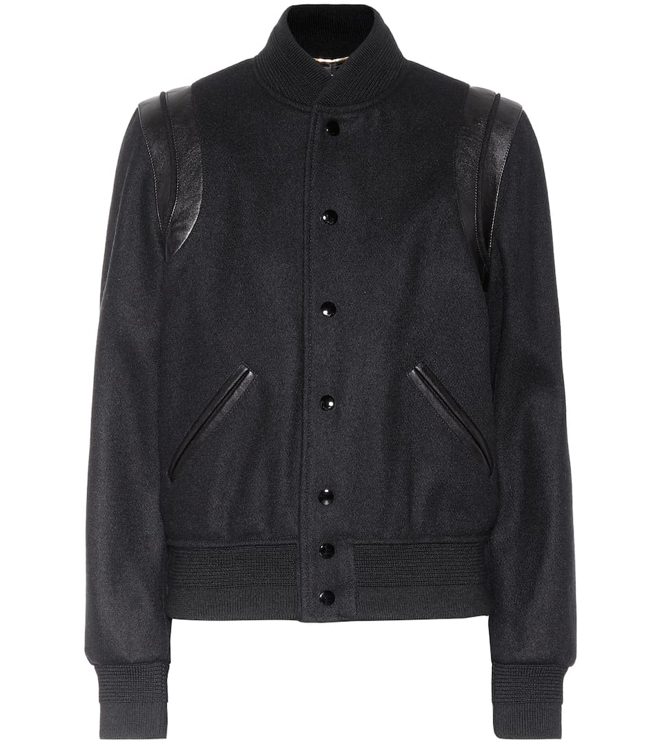Wool Varsity Jacket by Saint Laurent