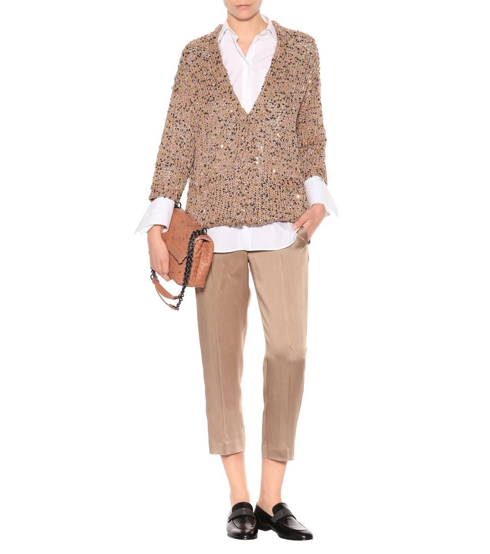 Brunello Cucinelli Pullover aus einem Leinen-Baumwoll-Gemisch