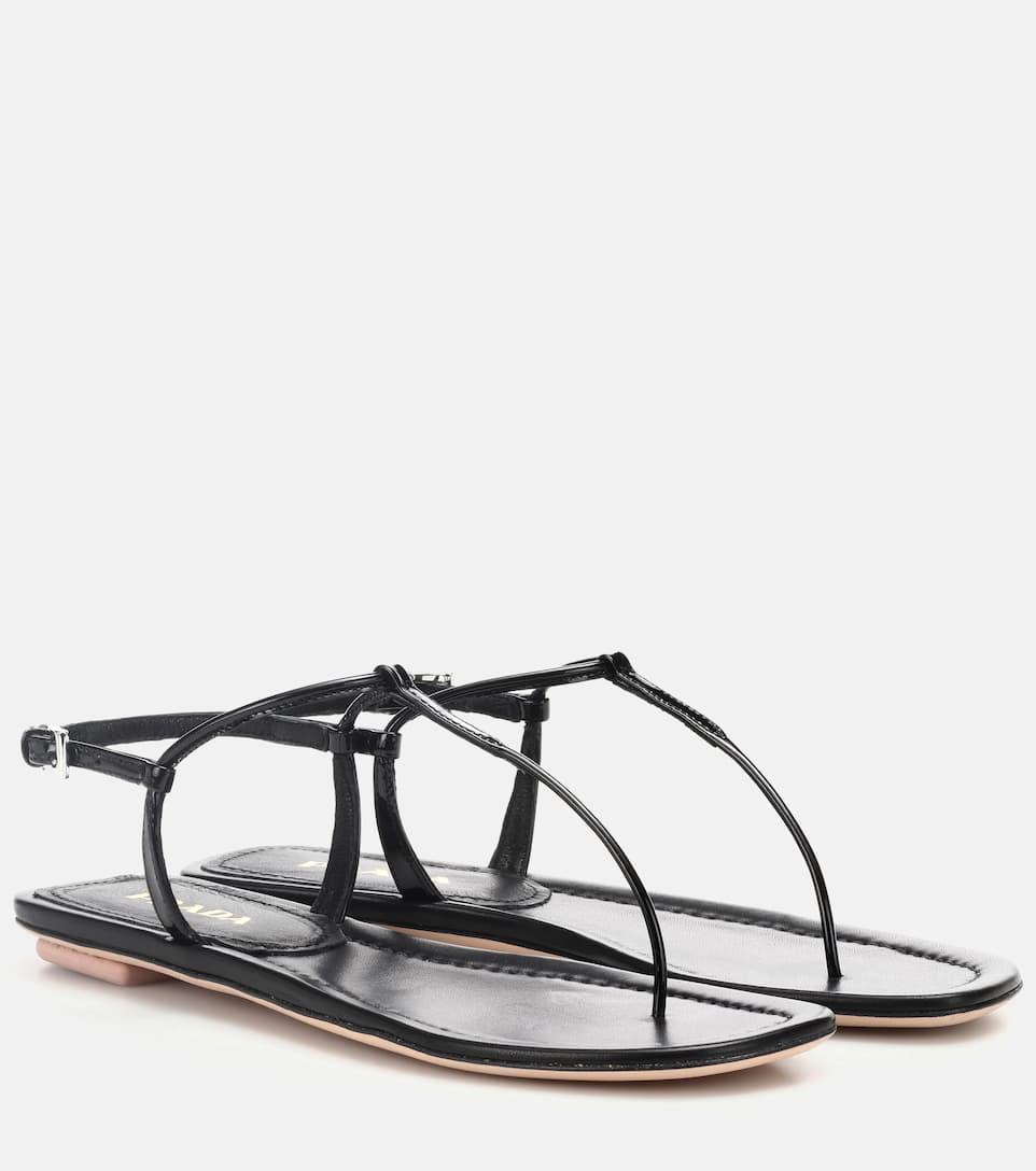 Sandales En Cuir - Prada