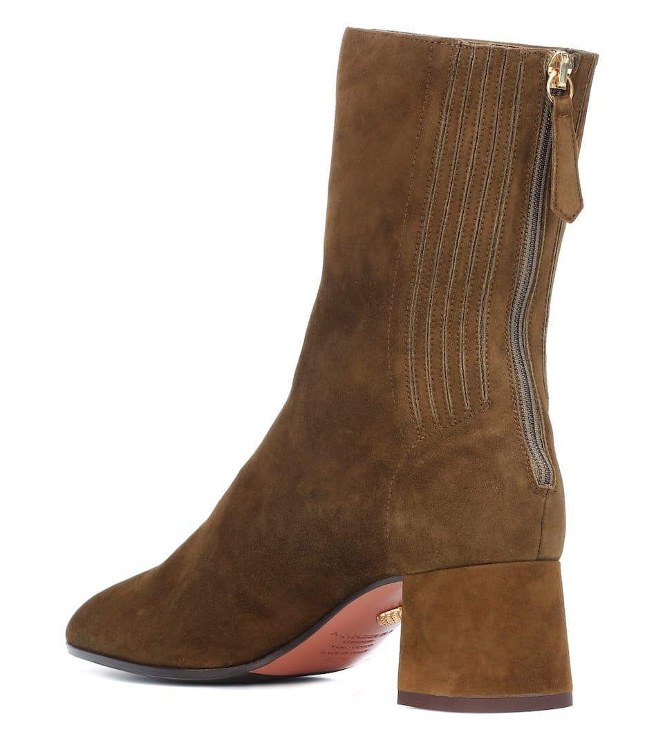 fd402928f6e9 Saint Honoré 50 Suede Ankle Boots - Aquazzura
