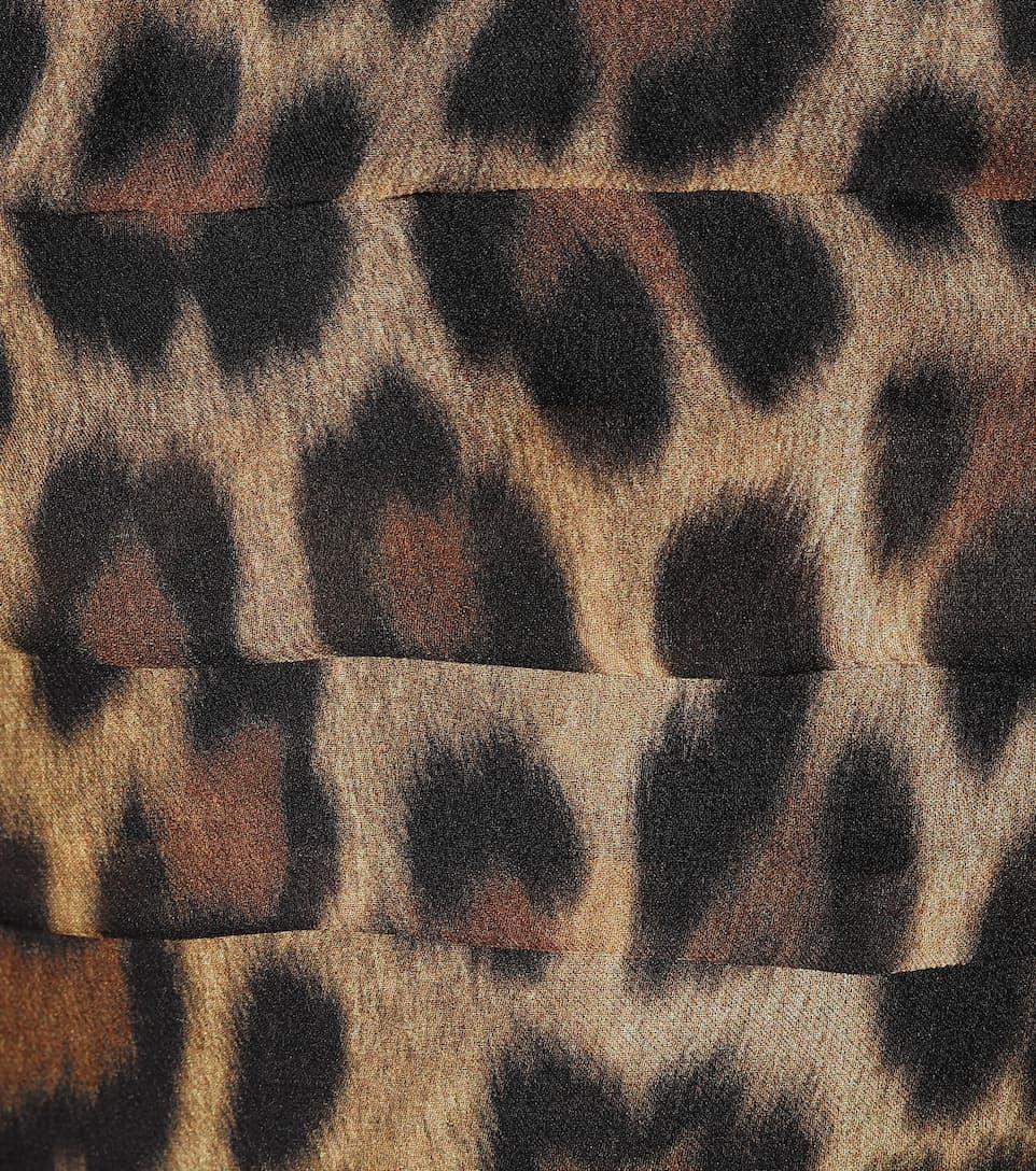 seta di chiffon Magda Abito Butrym animalier in qYfvPUw