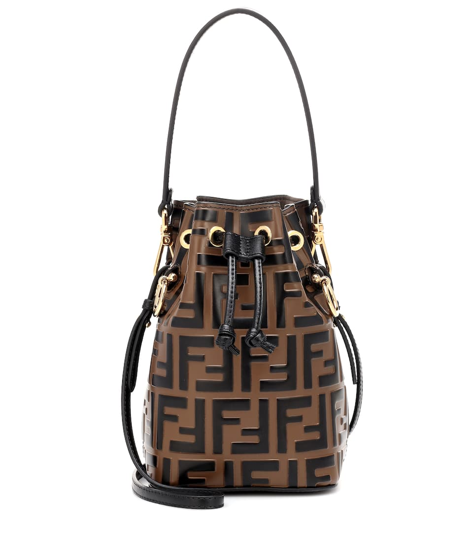 36f07f4bdb7a Mon Tresor Mini Leather Bucket Bag - Fendi