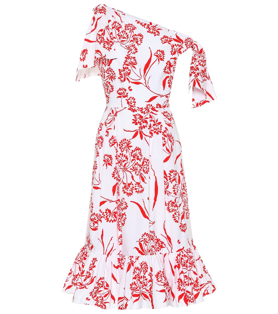 Carolina Herrera PRINTED STRETCH COTTON DRESS