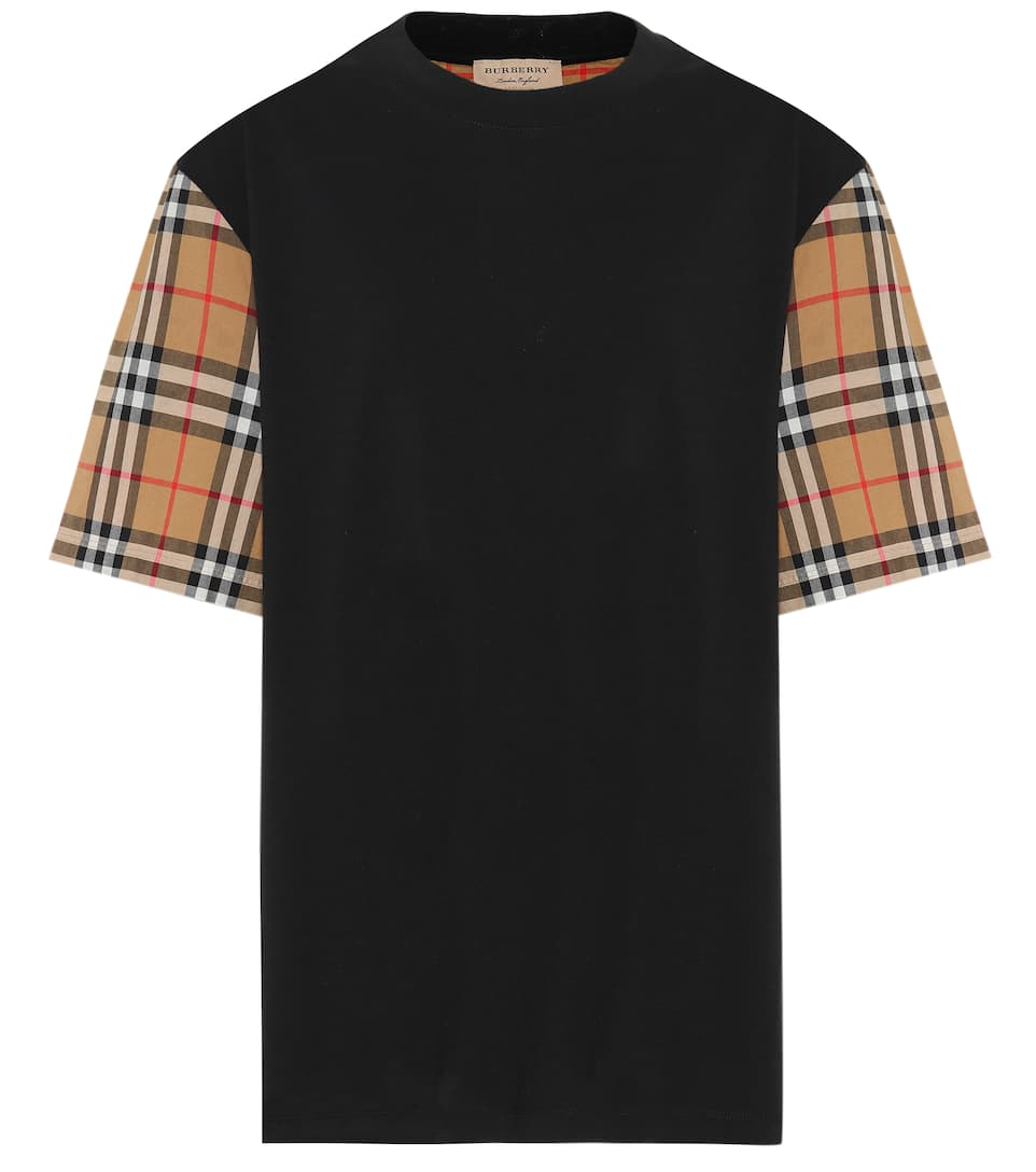 Vintage Check Cotton T Shirt by Burberry