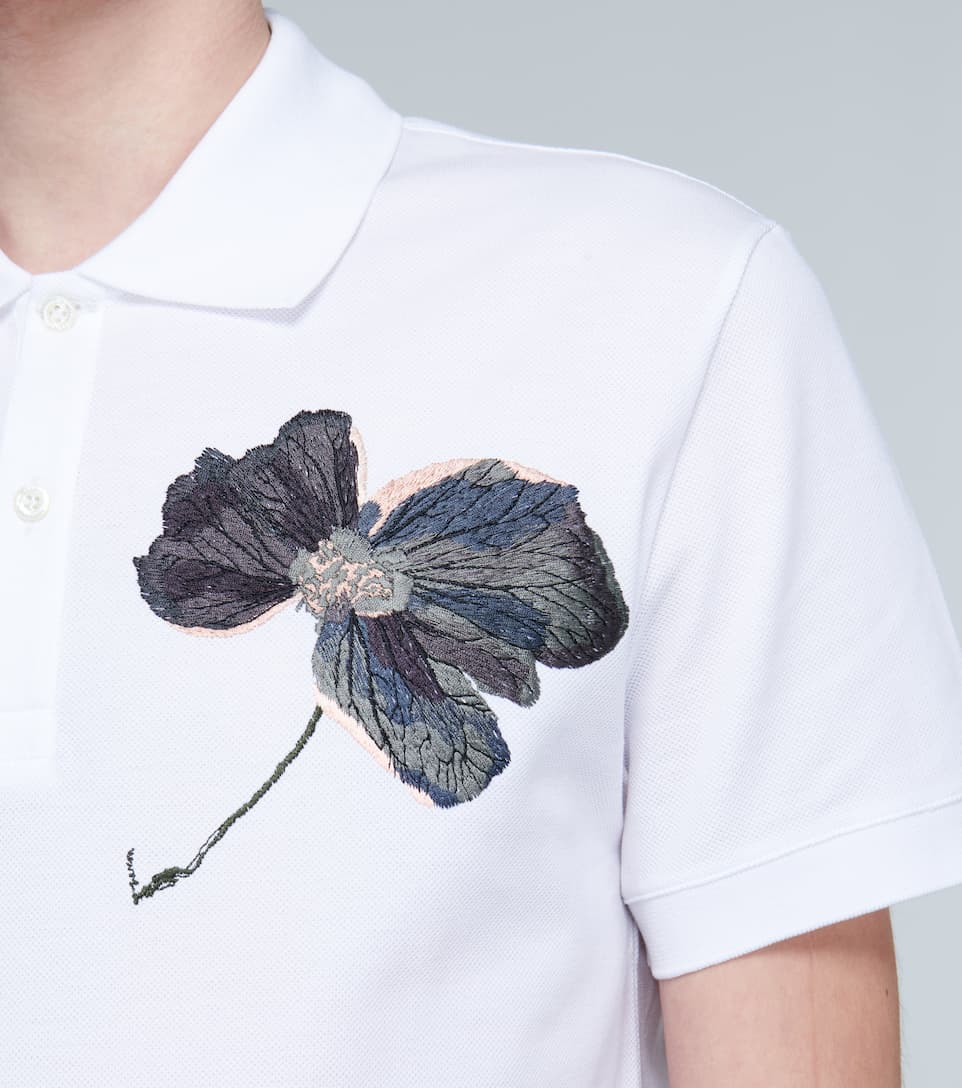 Floral Embroidered Polo Shirt | Alexander Mcqueen - Big Discount