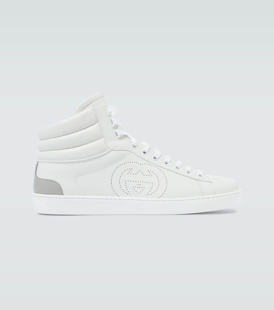 Gucci - Ace high-top leather sneakers