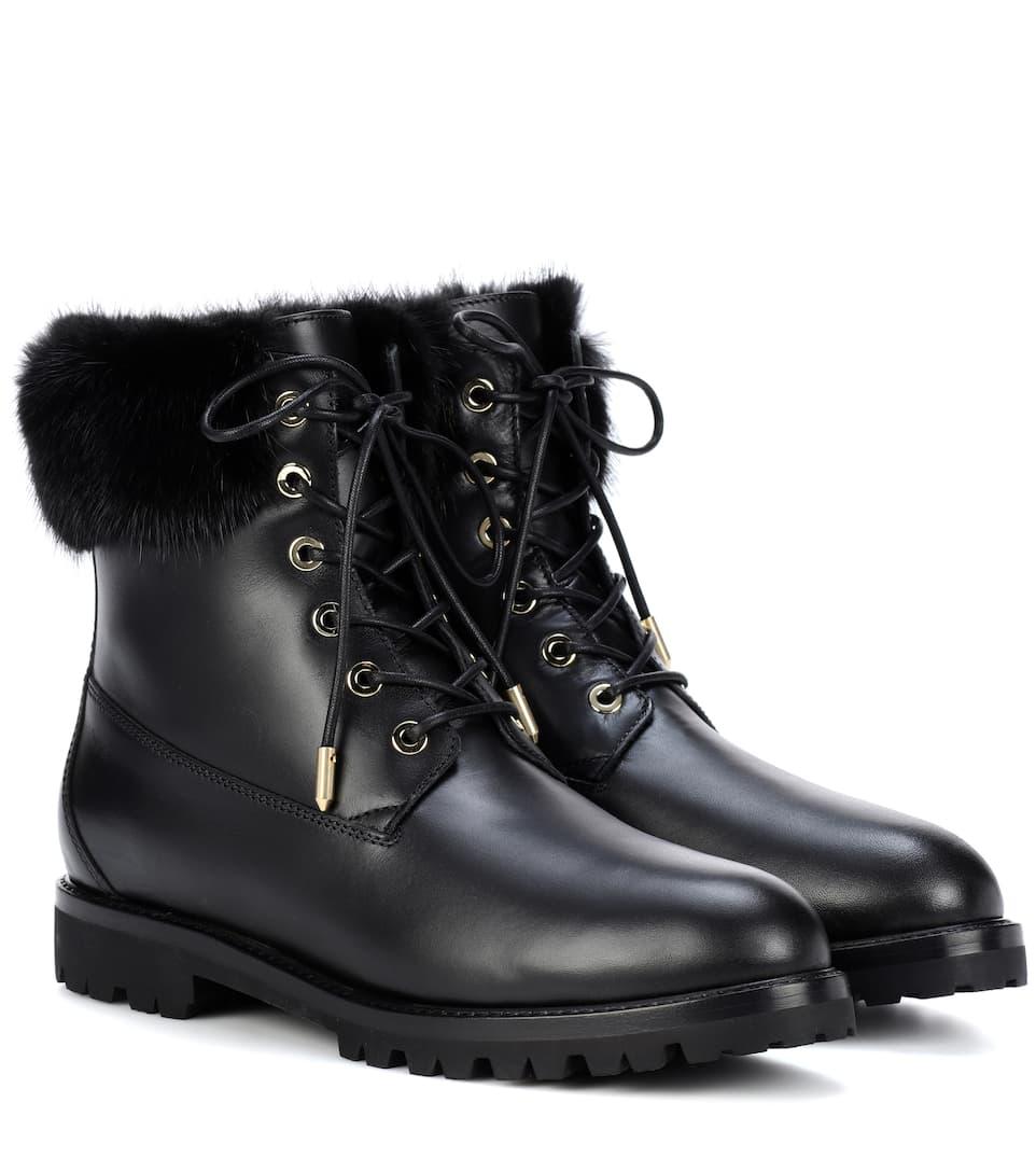 Aquazzura Leder-Boots The Heilbrunner mit Nerz Billig Verkauf Fabrikverkauf Billig Verkauf Beliebt Wirklich Online-Verkauf jz5zg1MsxD