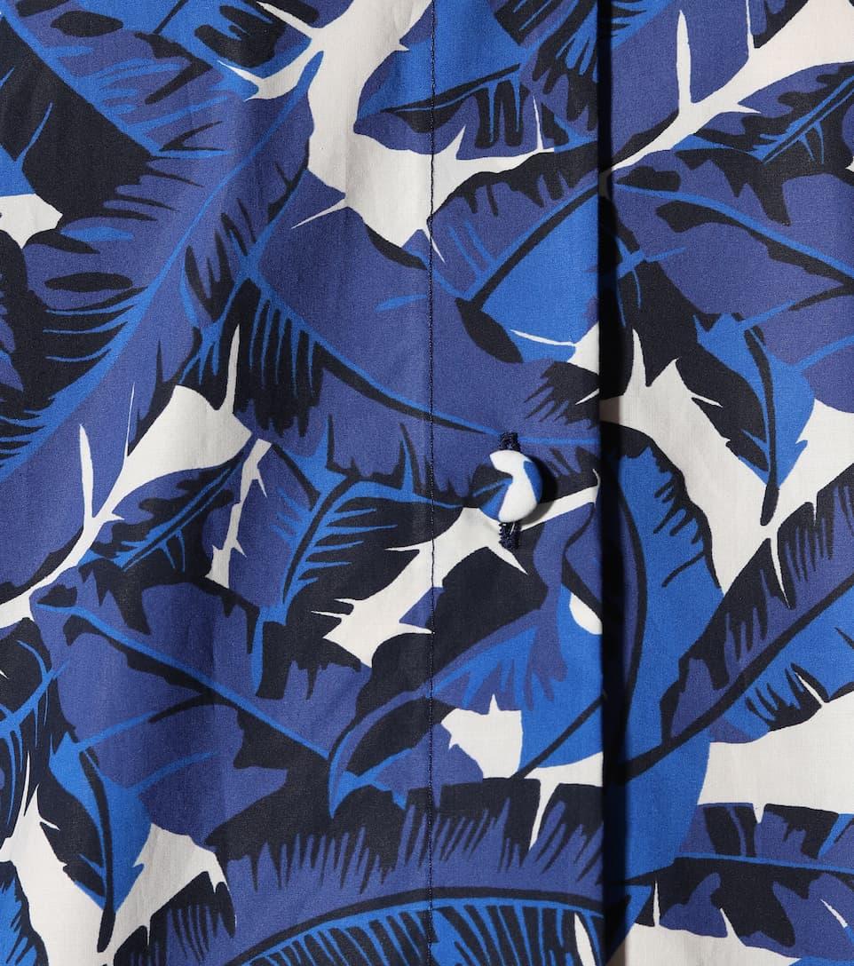 MSGM Bedrucktes Hemdblusenkleid aus Baumwolle