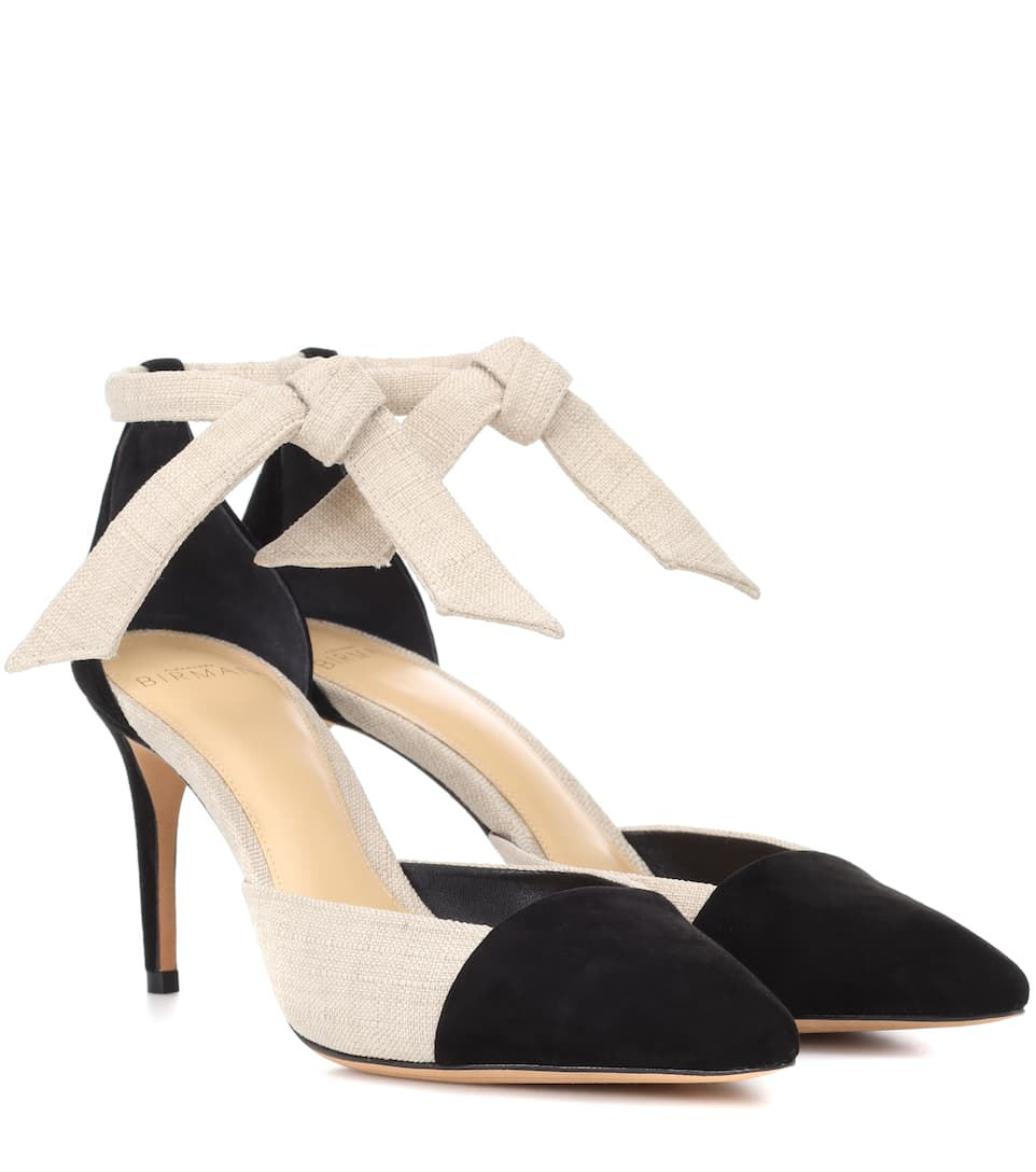 Discount Price Alexandre Birman Suede and canvas pumps Black/Natural Outlet Fast Delivery Sale Cheapest Price Extremely Clearance Choice QeTUinp
