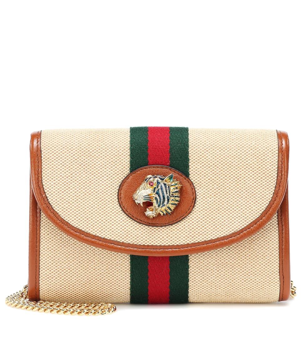 54b3ad16f3a776 Rajah Mini Canvas Shoulder Bag | Gucci - Mytheresa
