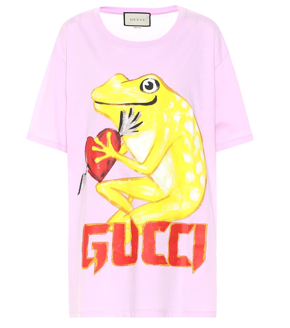 bb7fa6d21ee4 Gucci - Printed cotton T-shirt | Mytheresa