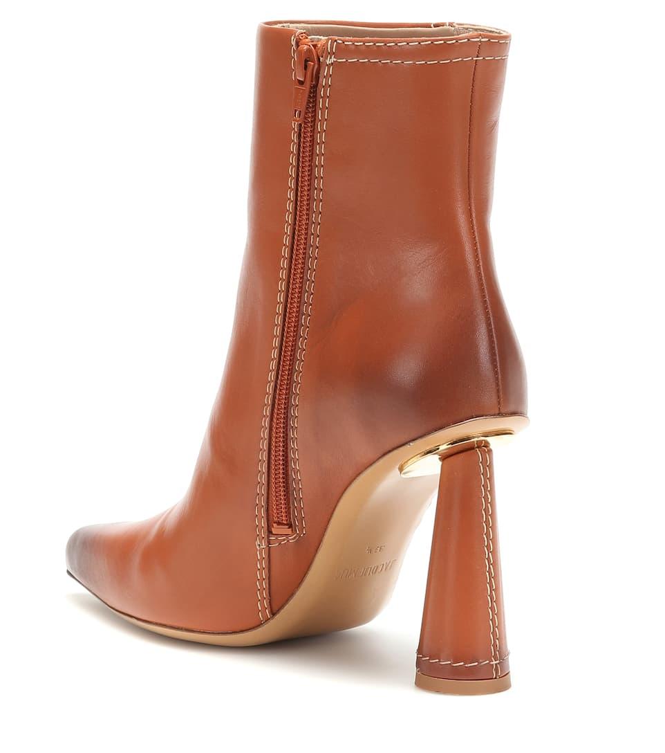 Les N° Toula BootsJacquemus Ankle Artnbsp;p00401594 Bottes Leather OTZPXiku