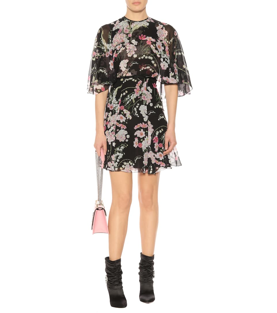 Giambattista Valli Printed Mini Dress In Silk