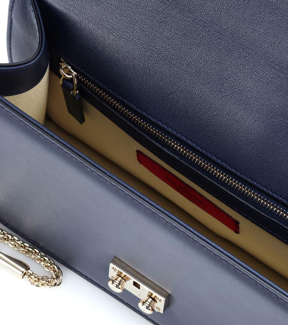 Valentino Valentino Garavani Schultertasche Lock Medium aus Leder Orange 100% Original Besuchen Online Authentisch Günstig Online Hochwertige Billig tFF5TbrYYw