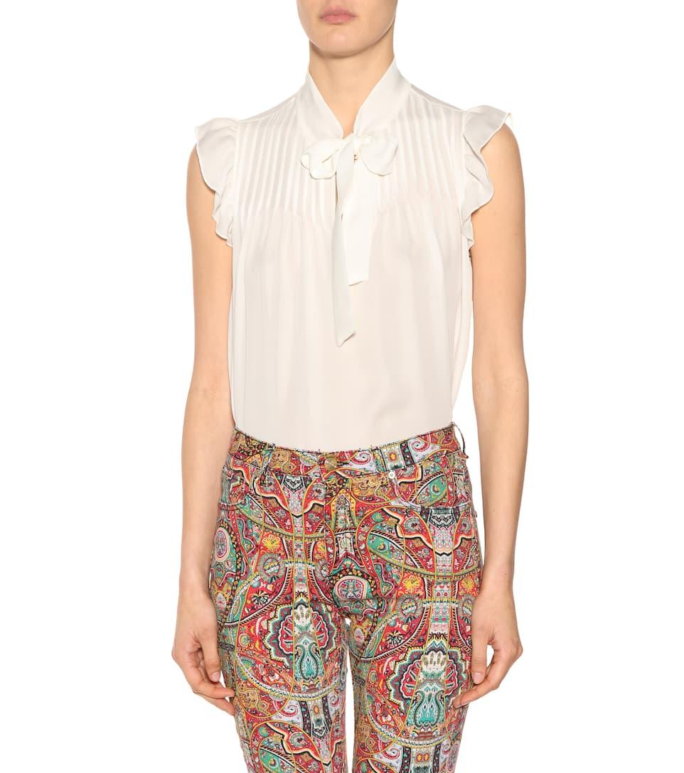 Etro Bedruckte Hose aus Stretch-Baumwolle