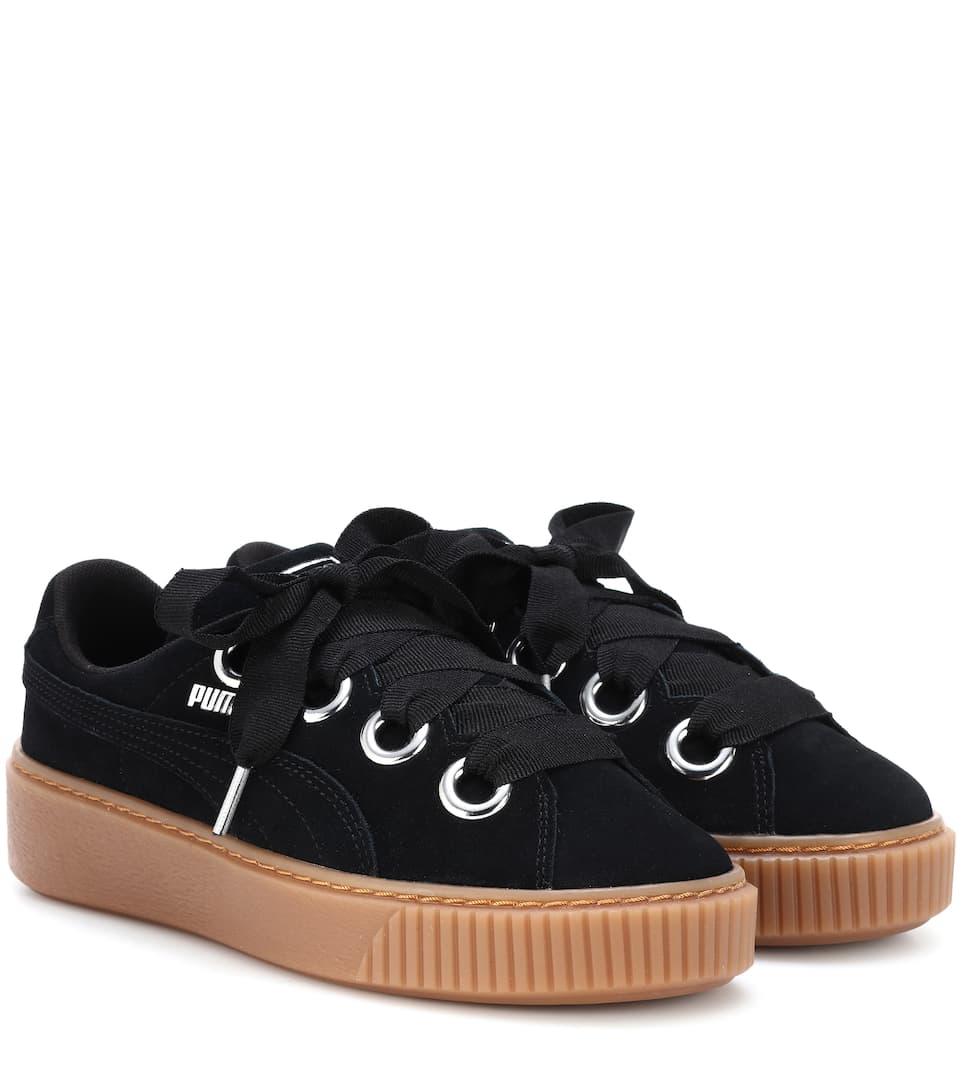 Basket Platform Suede Sneakers by Puma