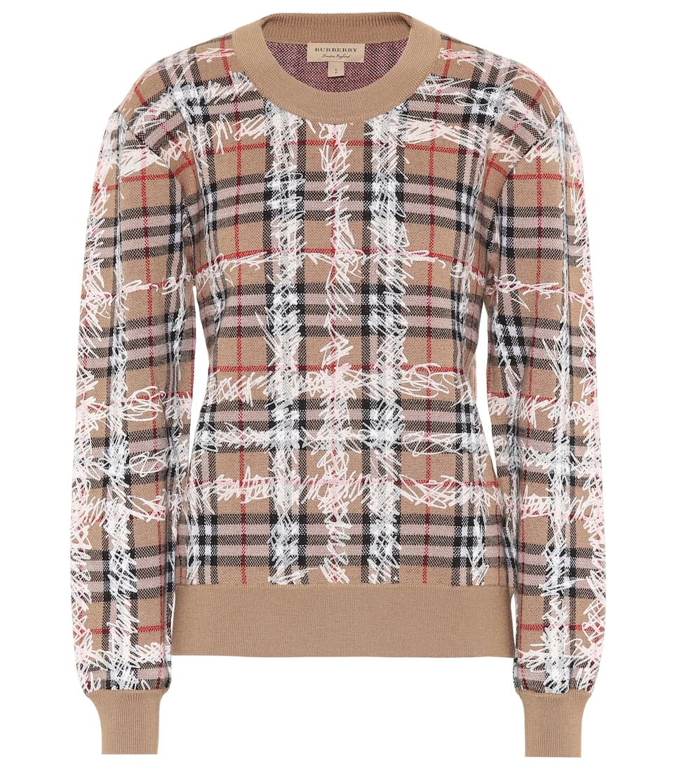 Burberry Karierter Pullover aus Merinowolle