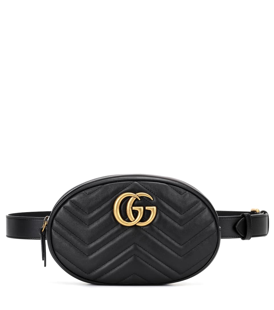 GUCCI GG MARMONT LEATHER BELT BAG