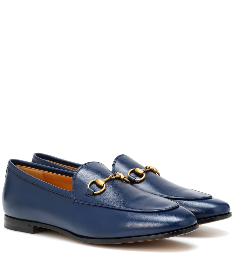 fd175462e0d Jordaan Leather Loafers - Gucci