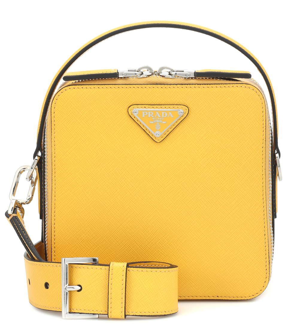 a58e54069e6b Brique Leather Mini Crossbody Bag - Prada