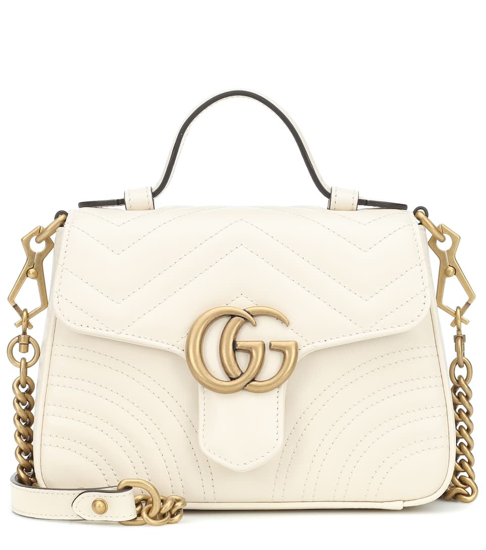 5d83b0f99a5 Gg Marmont Mini Leather Shoulder Bag - Gucci
