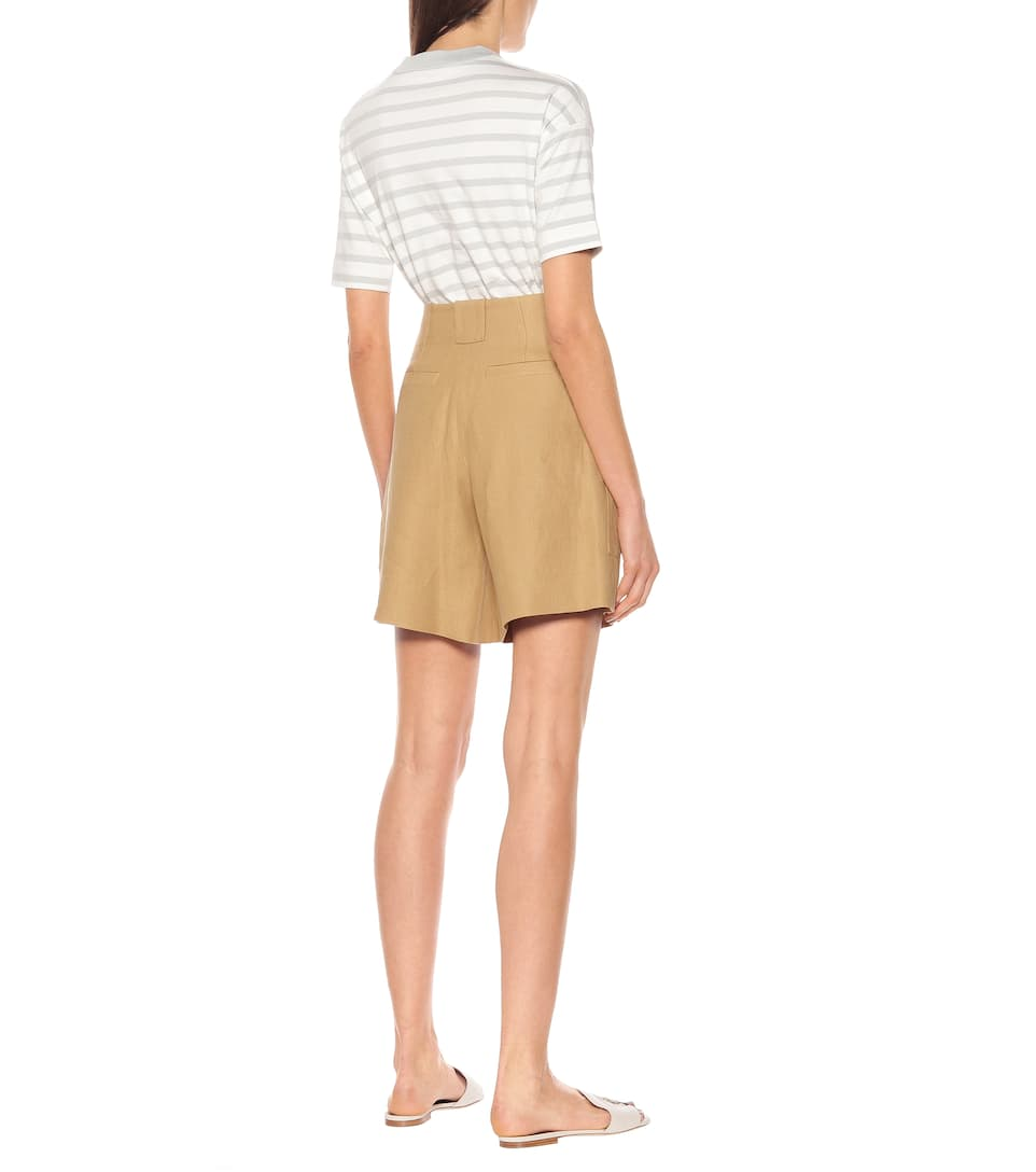 Truman High-Rise Flax Shorts - Loro Piana