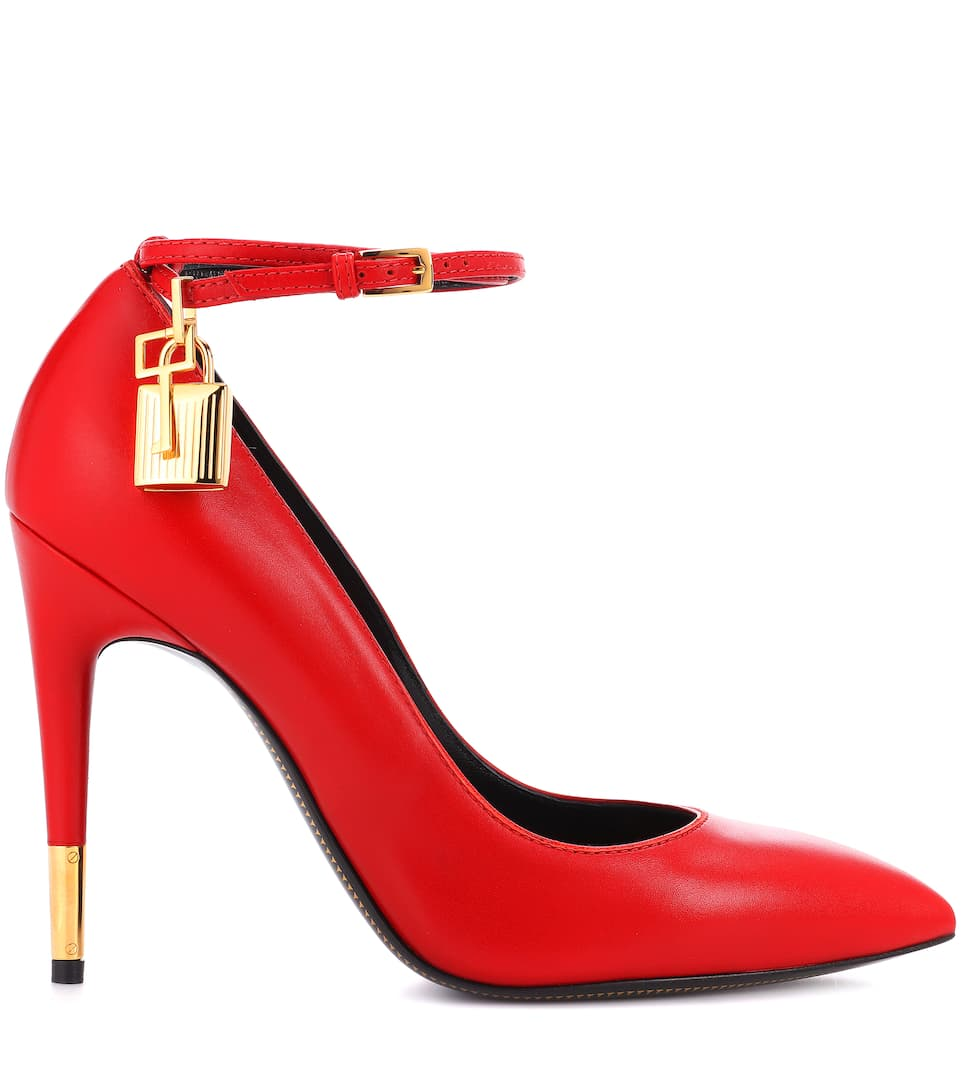 Tom Ford Pumps Padlock aus Leder