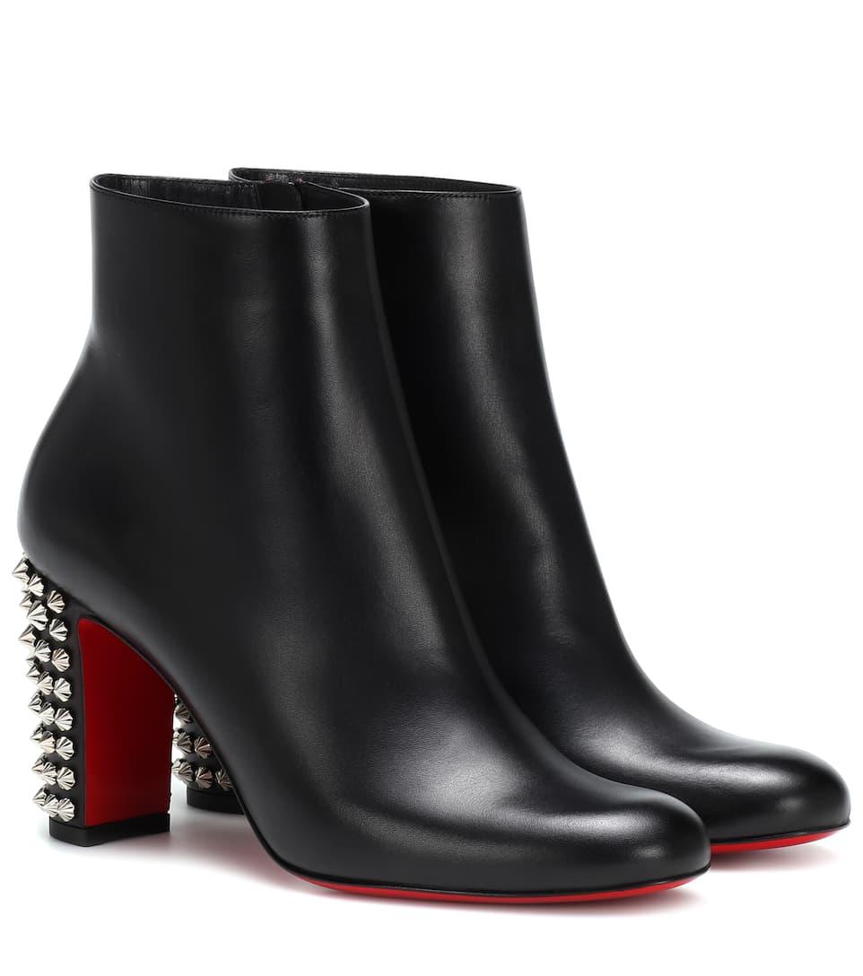 fd0d060c381 Suzi Folk 85 Leather Ankle Boots - Christian Louboutin