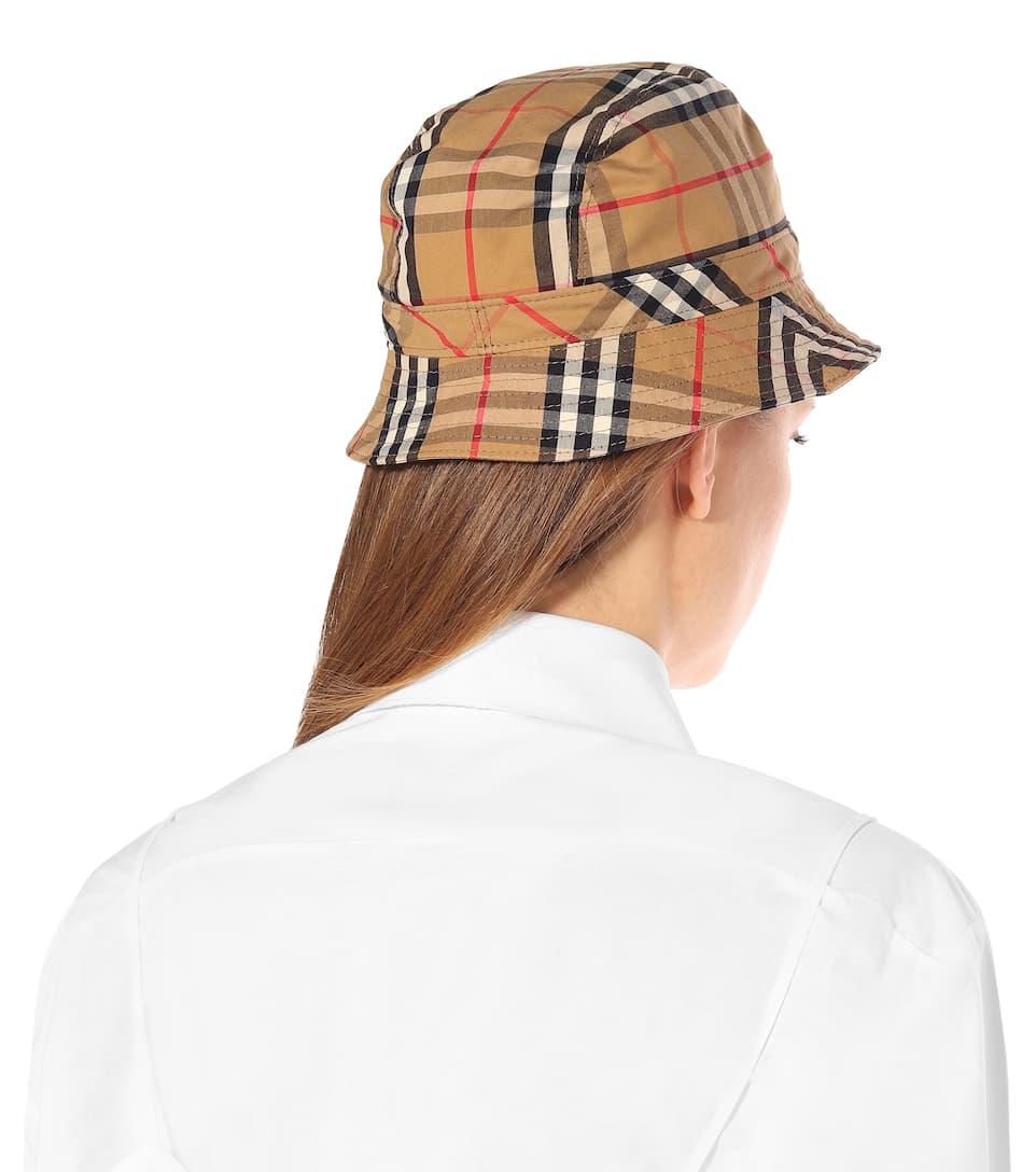 56703446f Vintage Check Cotton Bucket Hat - Burberry | mytheresa.com