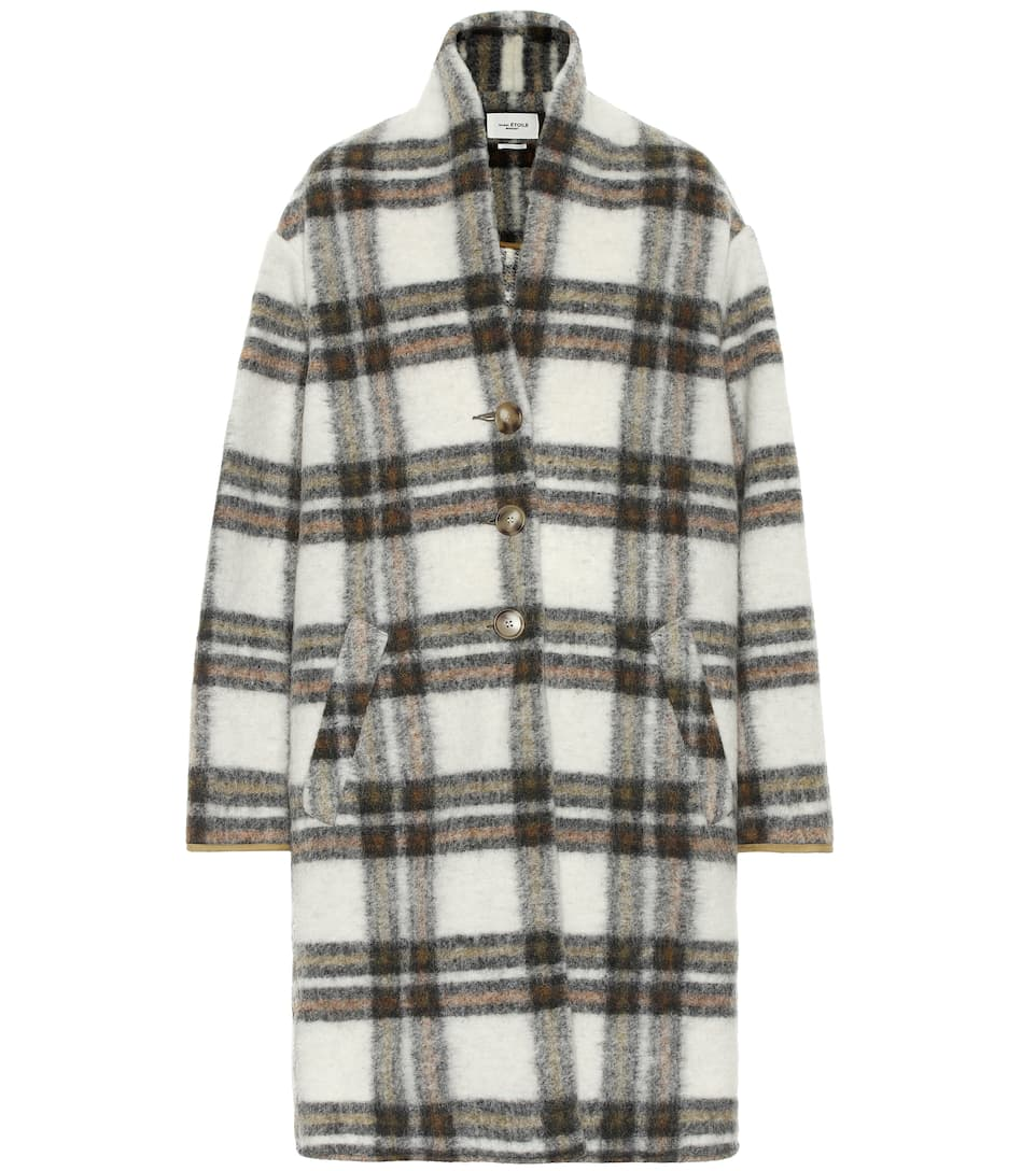 gabriel-checked-wool-blend-coat by isabel-marant,-Étoile